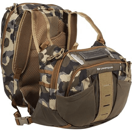 Umpqua Overlook ZS2 500 Chest Pack with Two 4 Point Harness Back Options